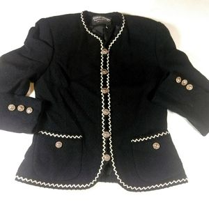 Herbert Grossman Military Style Wool Blazer SZ 6